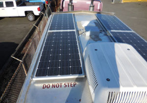 solar generator on trailer